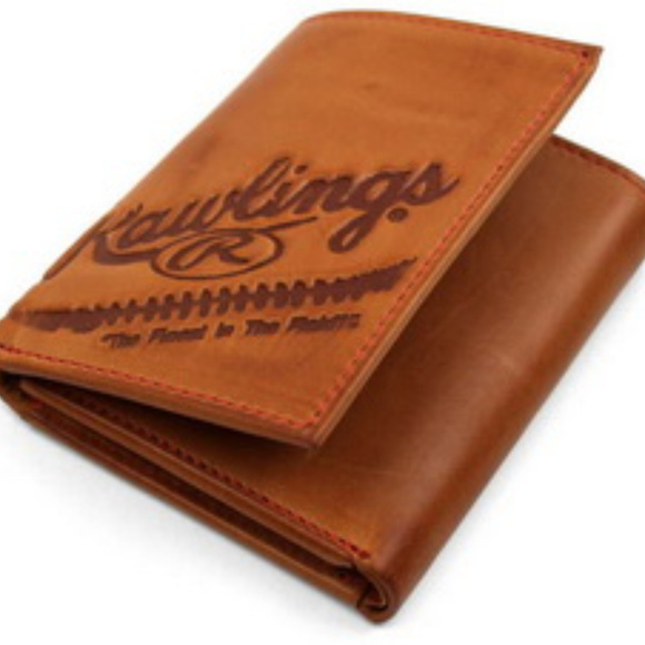 Rawlings Other - Rawilings Vintage Leather Tri-Fold Wallet Tan